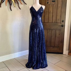 Windsor Blue Nia Sequin Formal, Sz Small, Like New